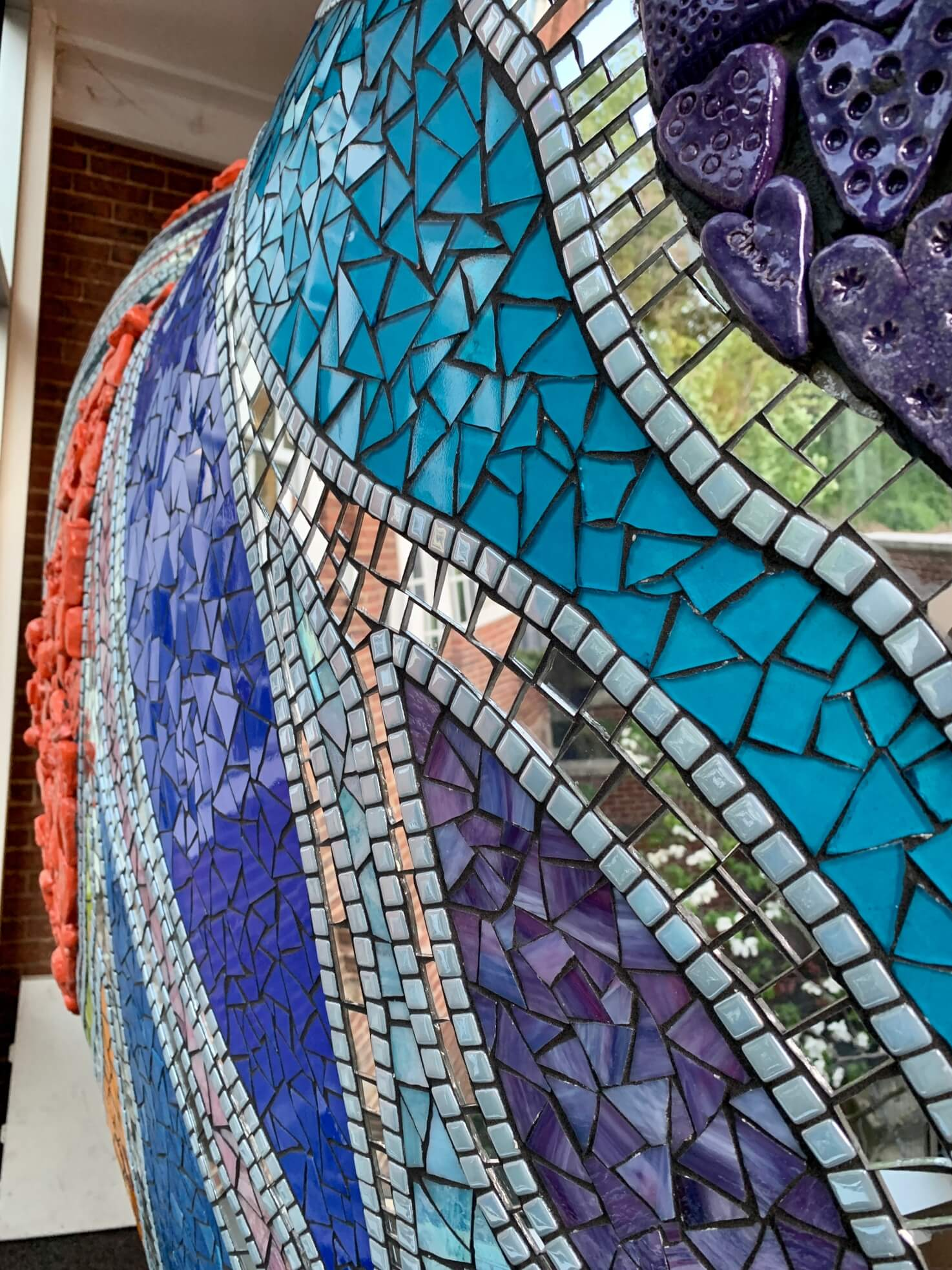 Art With a Heart Sculpture Uses LATICRETE premixed non sanded grout and 254 Platinum thinset