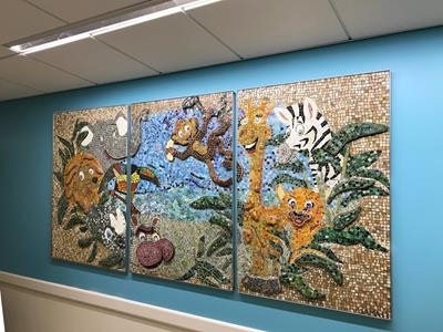 Finished mosaic mural