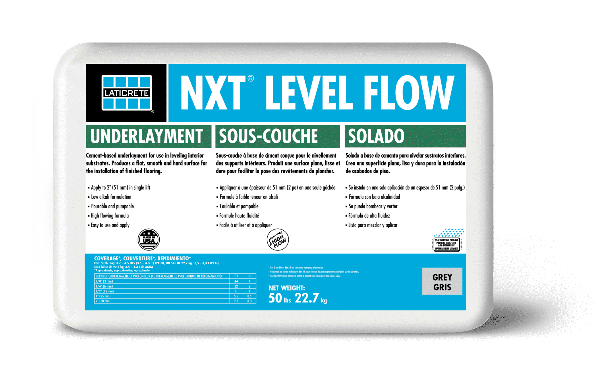 NXT Level Flow self leveling underlayment by LATICRETE