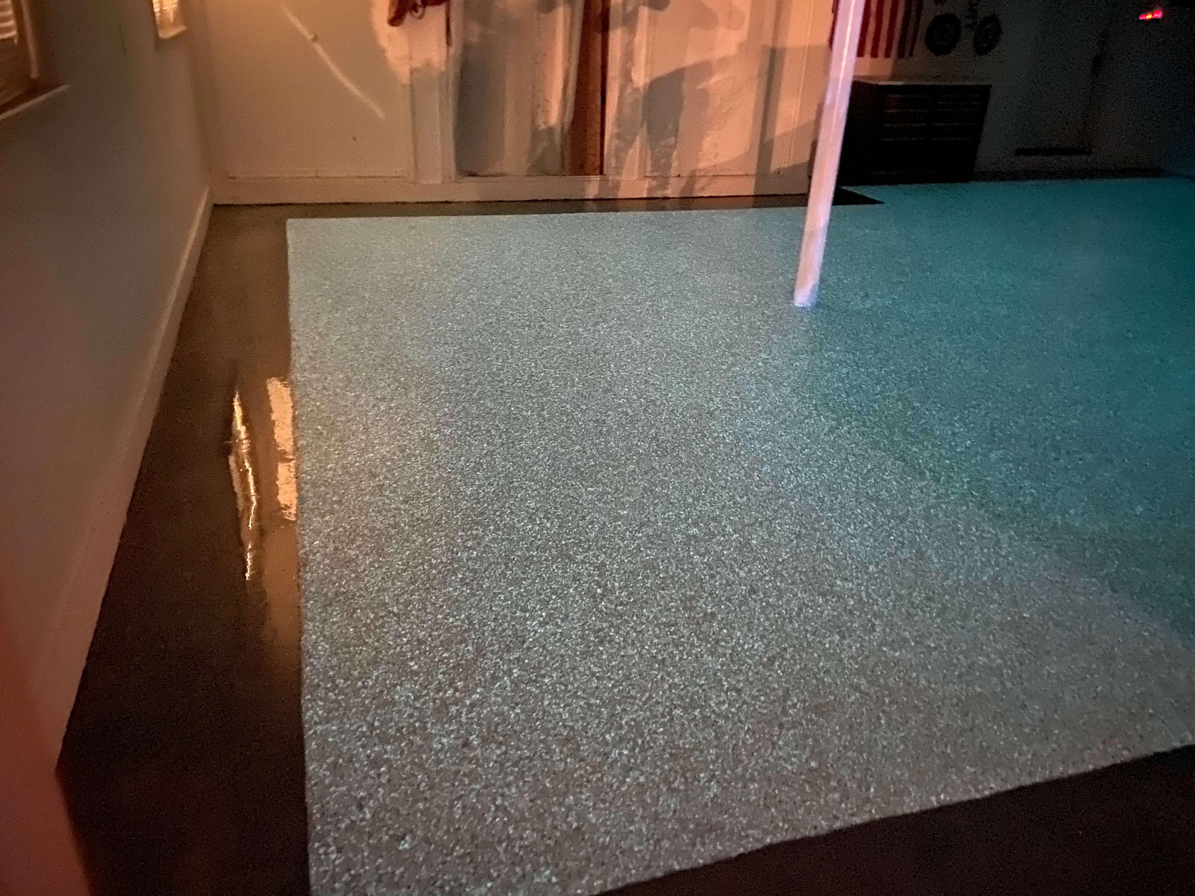 SPARTACOTE resinous flooring glow in dark chip system