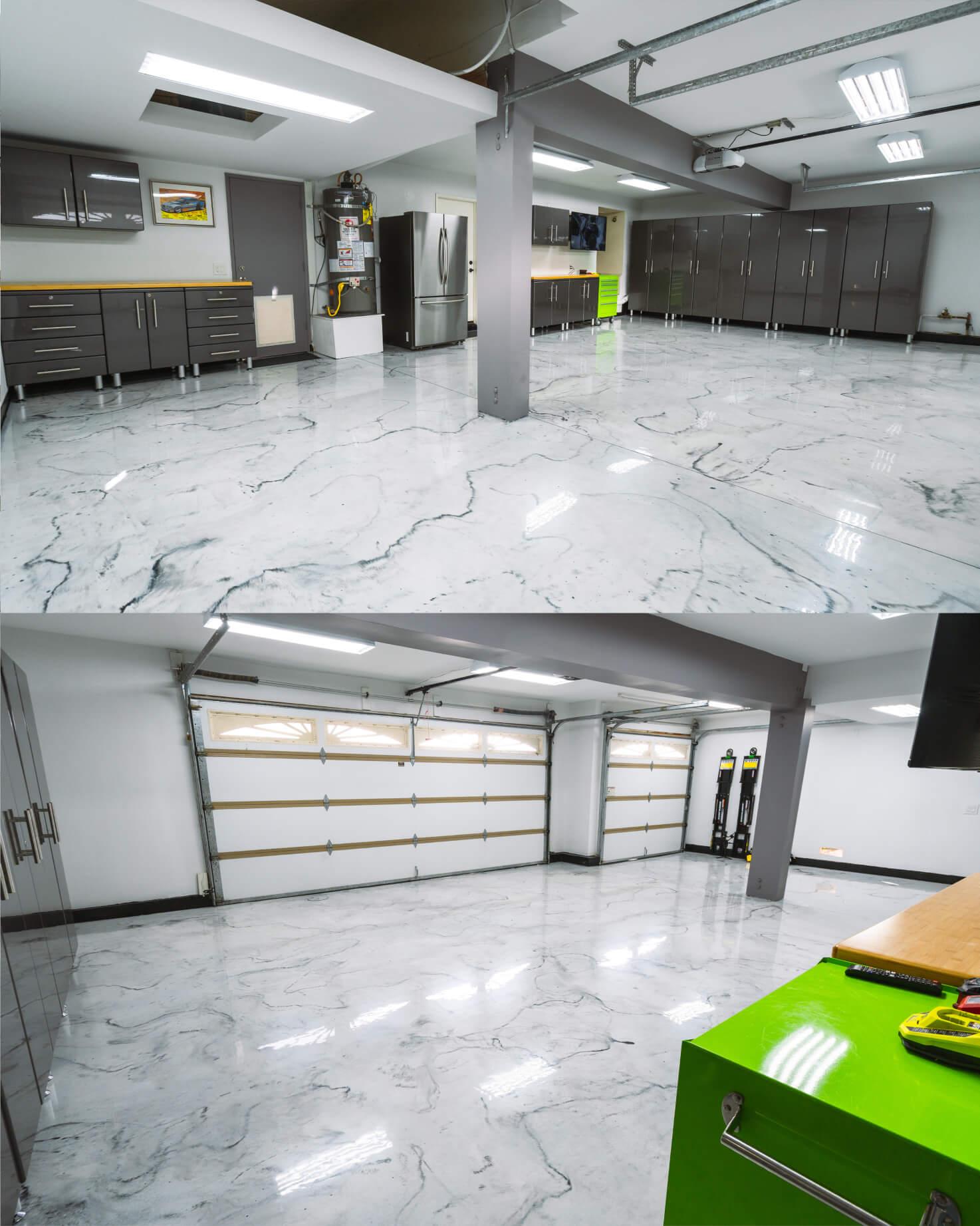 Resinous Coatings Custom Garage Floor Project for Throtl