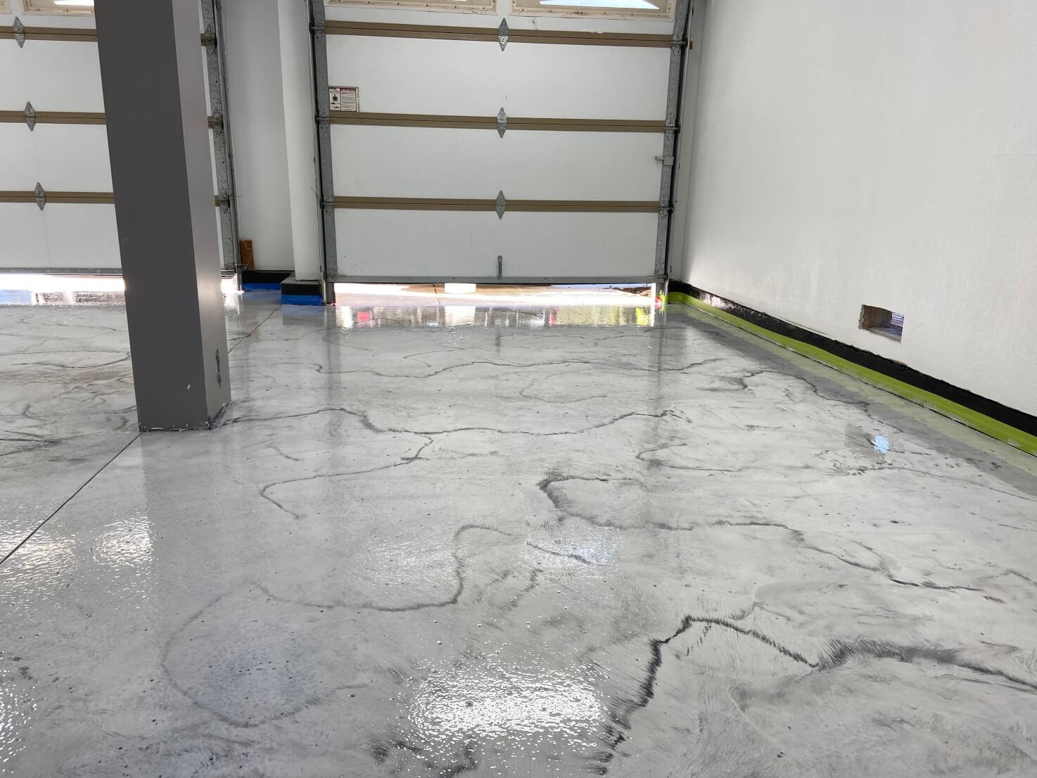 SPARTACOTE Metallic Pigments used to create a custom metallic epoxy floor