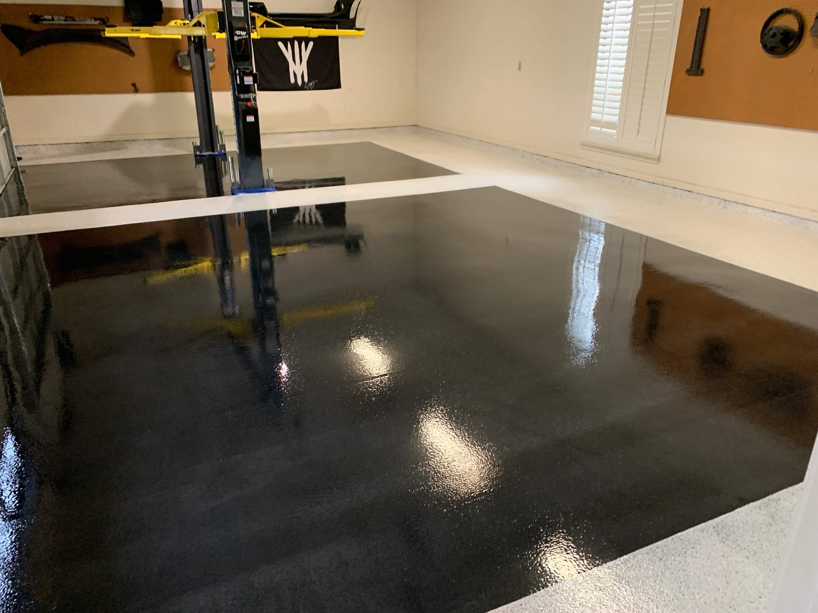 SPARTACOTE resinous floor coatings on residential garage