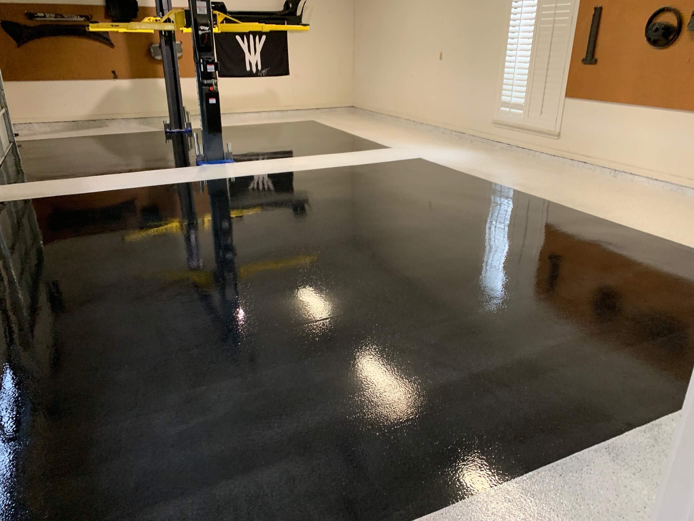 SPARTACOTE resinous floor coatings on residential garage