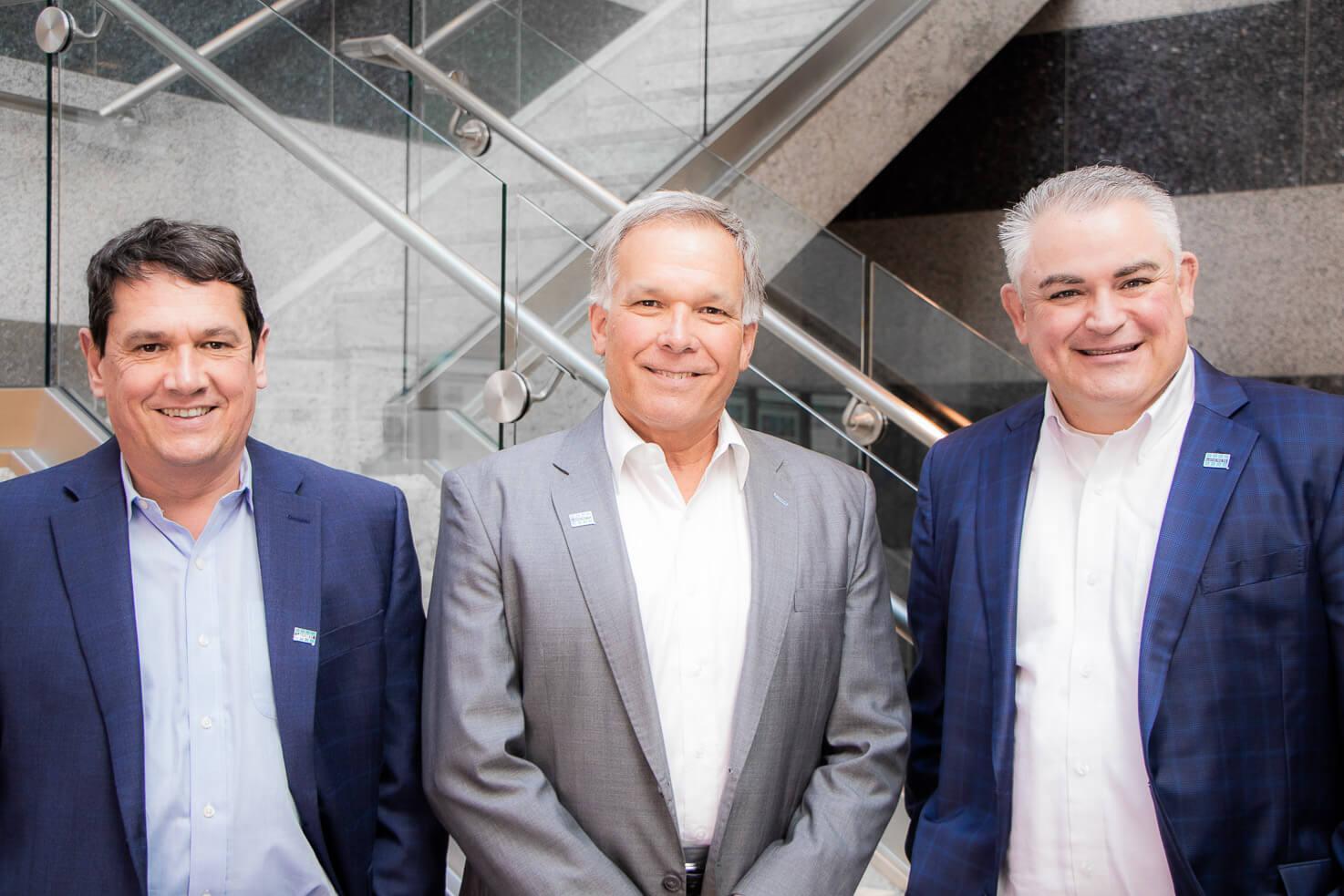 Patrick Millot, CEO LATICRETE with Ed Metcalf, President LATICRETE North America and Ron Nash, Senior Vice President of Sales and Marketing North America