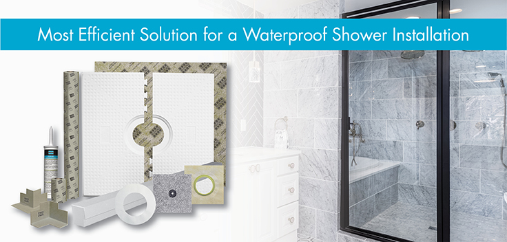 NEW HYDRO BAN Shower System by LATICRETE
