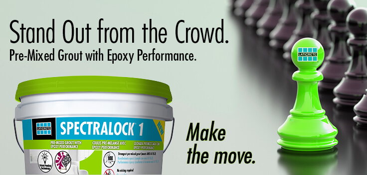 SPECTRALOCK 1 premixed grout with epoxy grout performance - LATICRETE