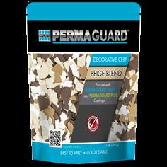 PERMAGUARD Decorative Chip epoxy flake floor in beige