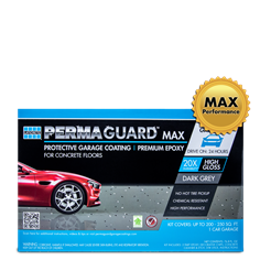1 car PERMAGUARD Max garage floor epoxy kit in dark grey color