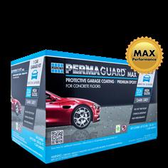 1 car PERMAGUARD Max garage floor epoxy kit in dark grey color