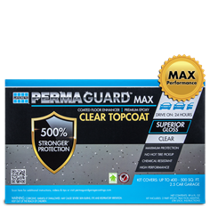 PERMAGUARD MAX Topcoat garage floor epoxy coat for up to 2.5 cars