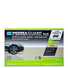 1 car PERMAGUARD PLUS epoxy garage floor coating kit in beige color