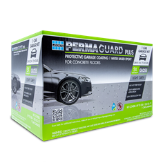 1 car PERMAGUARD PLUS epoxy garage floor coating kit in light grey color