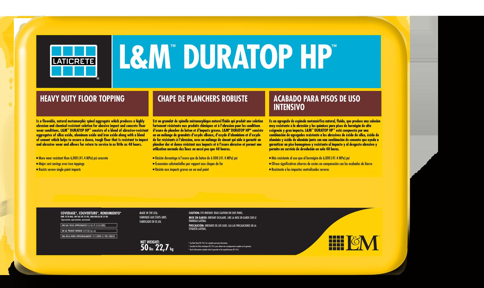 L Amp M Duratop Hp Laticrete