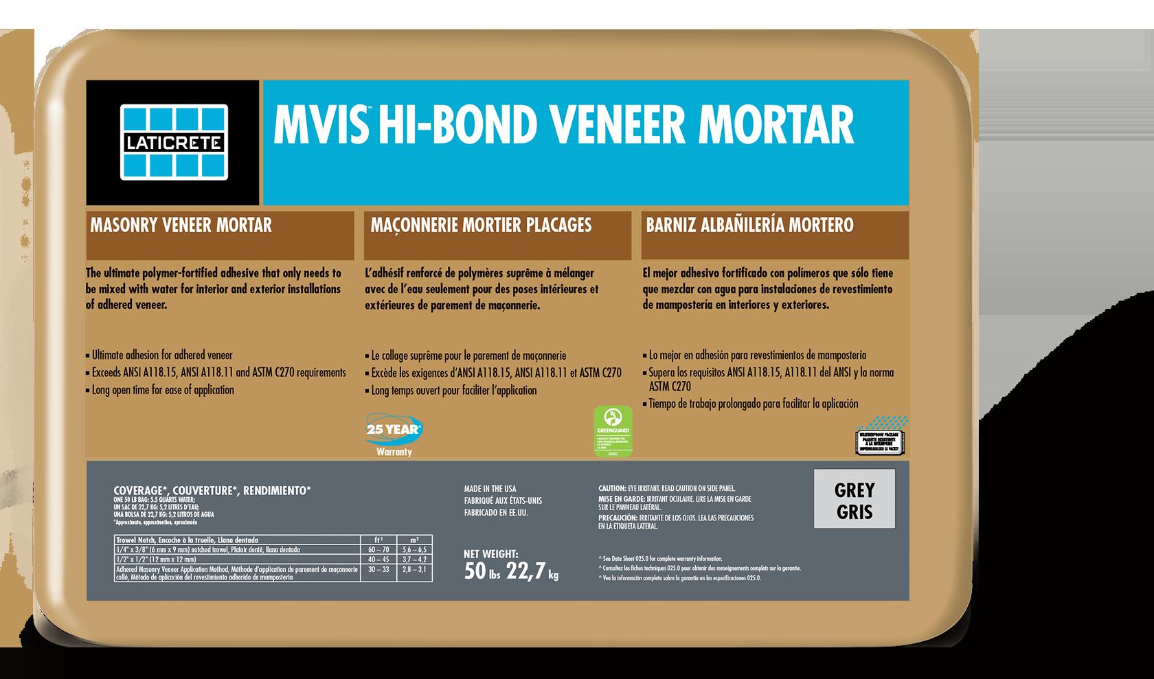 MVIS™ Hi-Bond Veneer Mortar