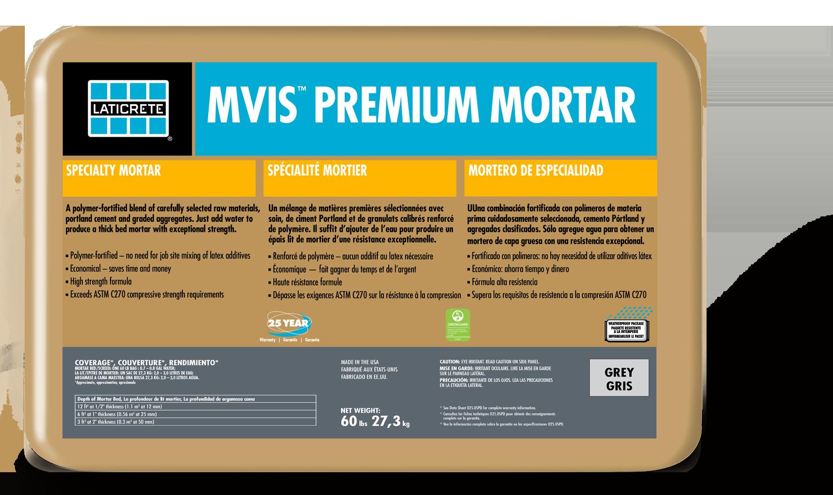 MVIS™ Premium Mortar Bed