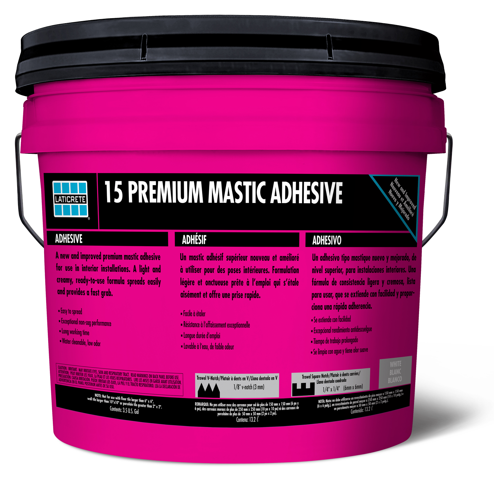 Premium Mastic LATICRETE - Acrylic tile adhesive vs thinset