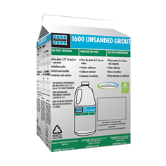 1600 Unsanded Grout carton