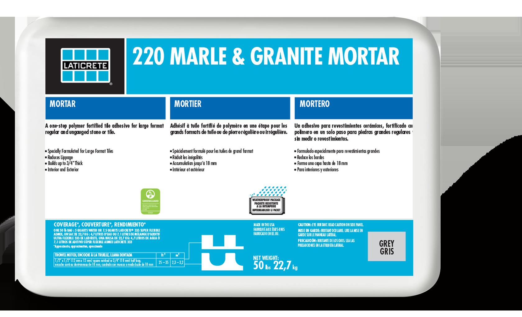 220 Marble & Granite Mortar