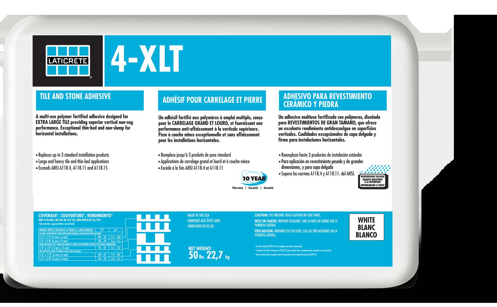 XLT LATICRETE - Acrylic tile adhesive vs thinset
