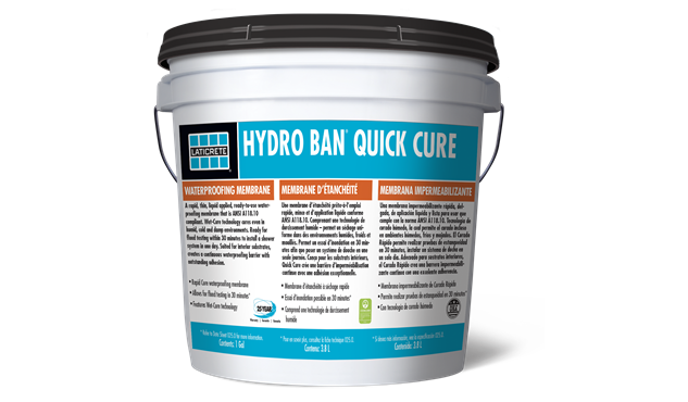 Hydro Ban Quick Cure Is A Rapid Thin Liquid Lied Ready To Use Waterproofing Membrane That Ansi A118 10 Compliant Featuring Wet Technology