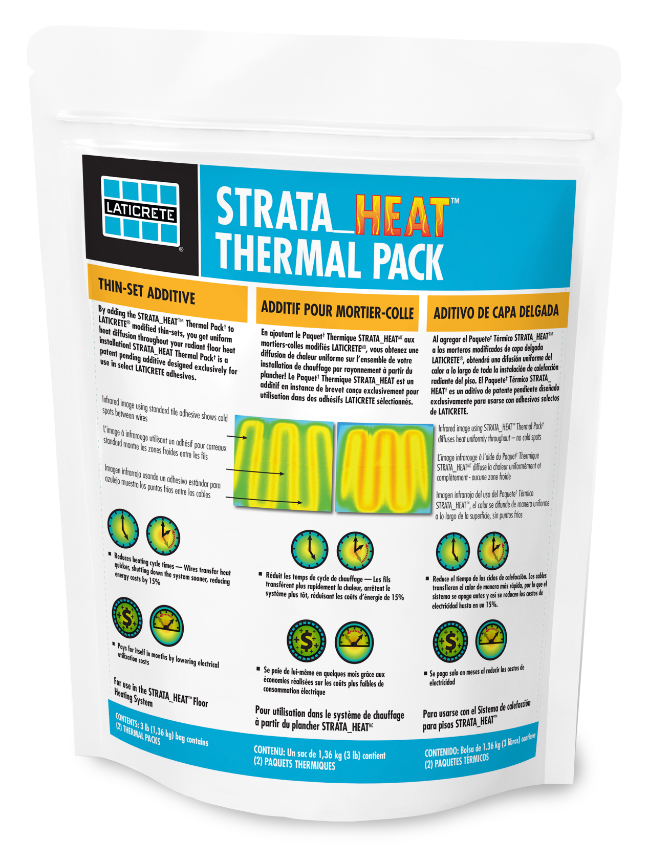 Available Only From Laticrete Strata Heat Thermal Pack Is A Patent Pending Additive Designed Exclusively For Use In Select Adhesives