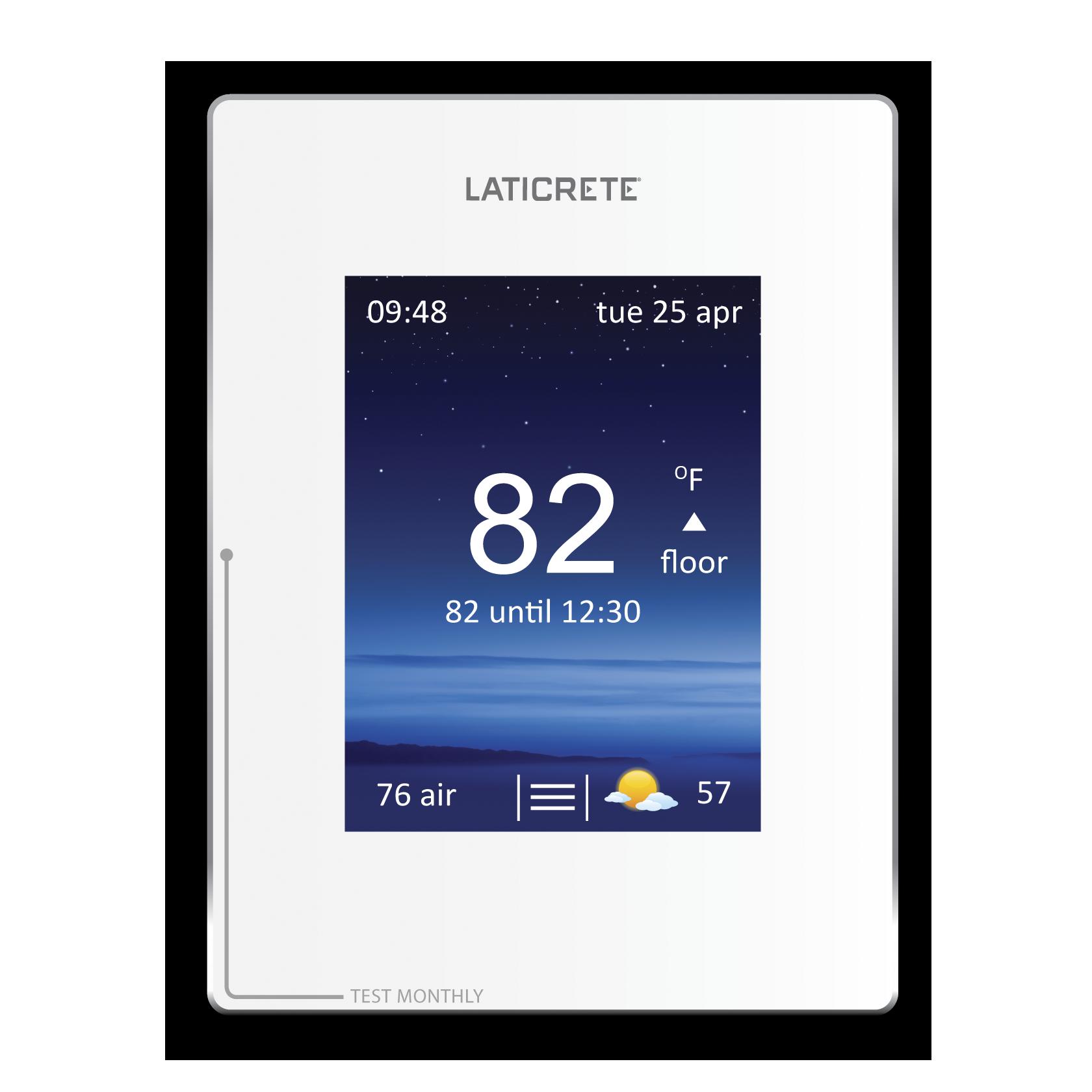 strata heat thermostat laticrete rh laticrete com Radiant Heat Thermostat Electric Heat Thermostat