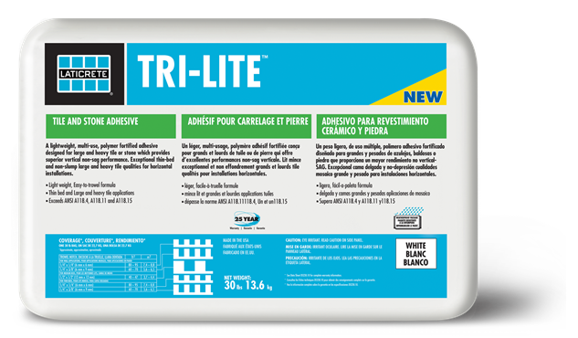 A Lightweight High Performance Tri Purpose Mortar Designed For Large And Heavy Tile Thin Bed Wall Installations