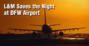 Aviation Taxiway Lights project with LATICRETE products