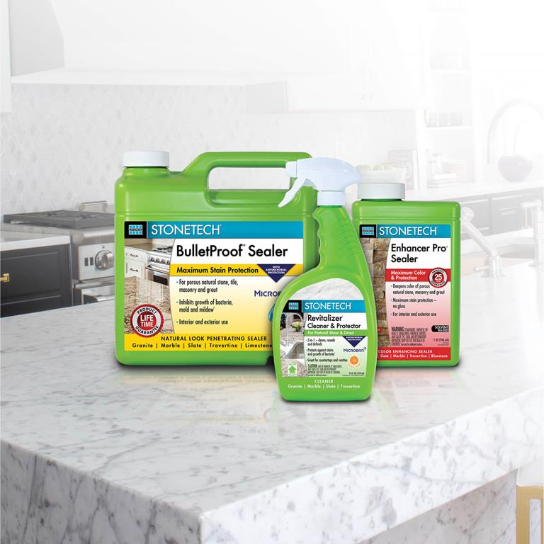 STONETECH stone, tile, masonry and grout care products from LATICRETE®.