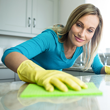 kitchen solid surface cleaning and maintenance