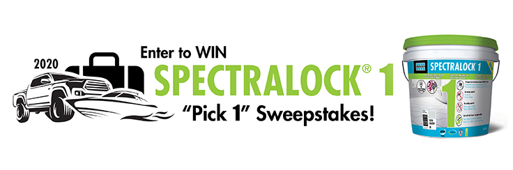 SPECTRALOCK 1 premixed grout Pick 1 Contractor Sweepstakes