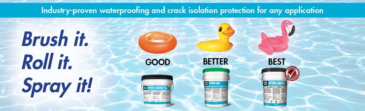 Waterproofing and Crack Isolation Protection Product Options from LATICRETE