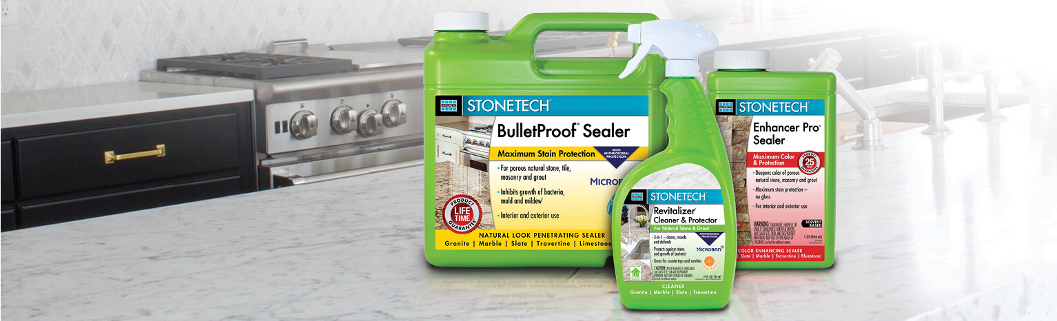 STONETECH surface care products are reliable, high performing and thoroughly tested, giving today's savvy stone and tile professionals a competitive edge.
