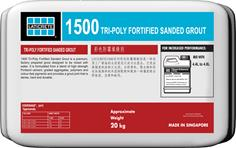 1500 Tri-Poly Fortified Sanded Grout