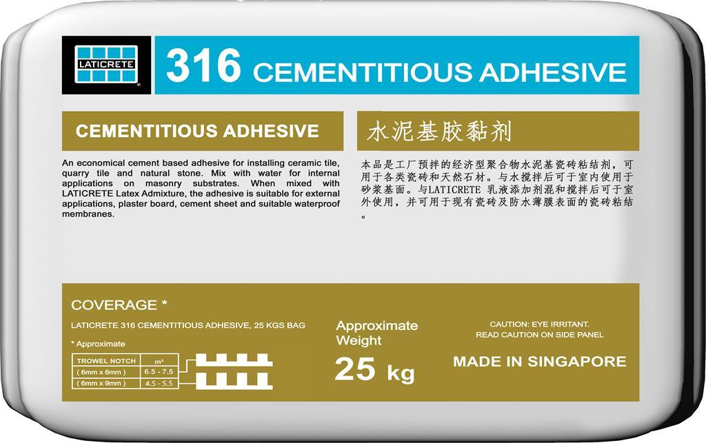 316 Cementitious Adhesive Laticrete