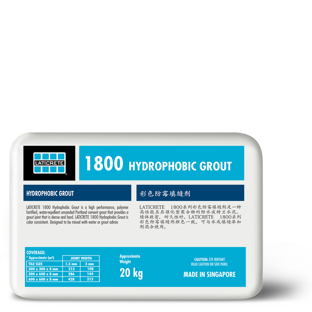1800 Hydrophobic Grout Laticrete